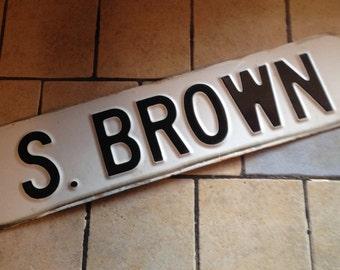 S. Brown Enamel Street Sign