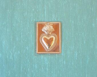 Photo album -Santa Fe destination wedding album - aqua with heart milagro - 6x8in.-50 page - Ready to ship