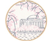East Coast Embroidery Kit Series - Washington, DC's Cherry Blossoms