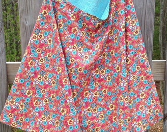 Full Coverage Nursing Cape/Poncho Reversible, Country Cottage Floral