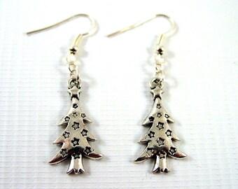Christmas Tree Earrings - Christmas Earrings - Festive Earrings - Yule Earrings