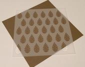 Square 5 inch stencil - Leaves
