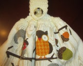 Thanksgiving Crochet Hanging Double Sided Kitchen Towel