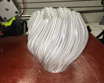 3D Printed Koch Snowflake Fractal Vase