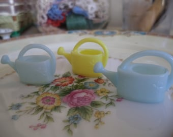 3 Miniature Watering Cans