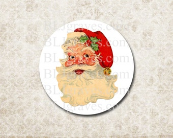 Santa Christmas Stickers Vintage Style Santa Stickers Envelope Seals Party Favor Treat Bag Stickers CS005