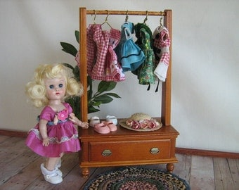 Vintage 50s- RARE Keystone Open Armoire For 8 to 12 Inch Dolls