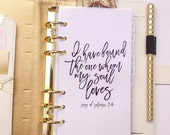 Song of Solomon 3:4 Planner Dashboard - Personal & A5 Size - Filofax Dashboard Kikki K Dashboard Webster Pages Dashboard