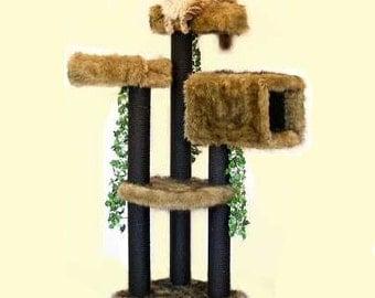 DESIGNER CAT FURNITURE 5' High Colorado, Best Cat Beds, High End Cat Trees, Elegant Cat Condos, Modern Cat Trees, Unique Cat Colorado 5F2BTp