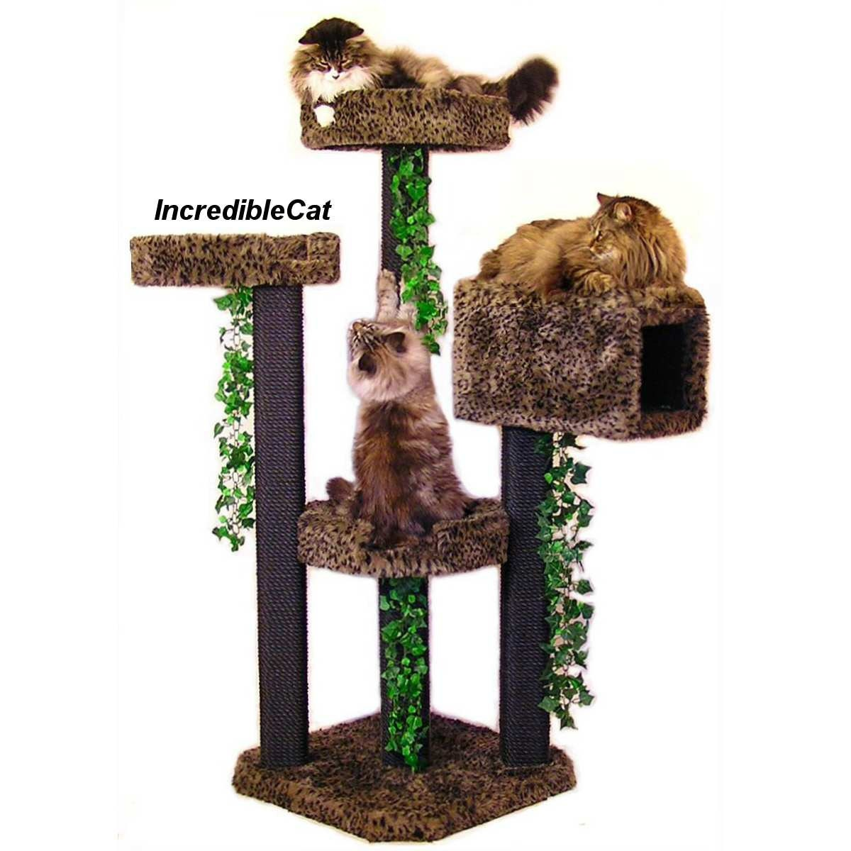 luxury cat furniture modern cat trees faux fur by. Black Bedroom Furniture Sets. Home Design Ideas