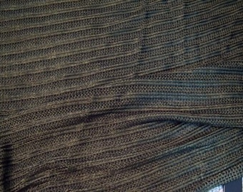 Dark Olive woven knit viscose fabric