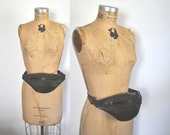 1990s Brown Leather FANNY Pack / hip bag / festival travel