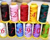 Silk Beading Knotting Thread Cord Bead String 0.6mm 380 Yard Spool for DYI