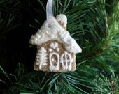 Gingerbread Mini  House Ornament Christmas Non-Edible