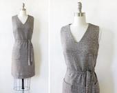 60s tweed dress, vintage 1960s wool jumper, vintage mod mini dress,, extra small xs
