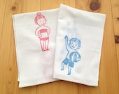 beach volleyball hand towel. boy and girl japanese tenugui towel. summer pure cotton wash cloth. hand printed single gauze fabric. 80cmX35cm