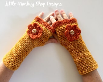 Crochet PATTERN gloves fingerless womens wrist warmer crochet pattern, crochet gloves pattern, crochet fingerless mittens pattern  Shannon's