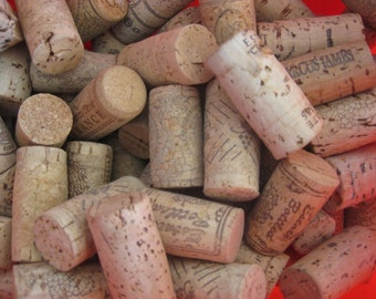 Wine corks, used, for all your cork craft projects, 50+ pc