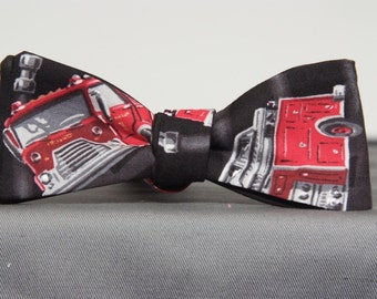 Fire Engine Bow Tie