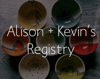 Little Bowls - Alison and Kevin's Wedding Registry FREE SHIPPING