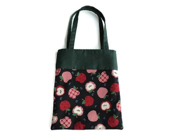 Fabric Apple Gift/Goodie Bag - Apples and Letters