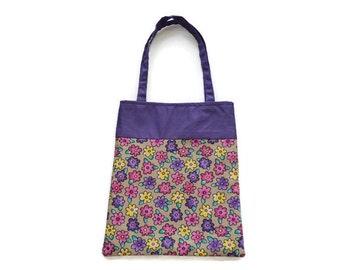 Fabric Flower Gift Bag - Goodie Bag - Mini Tote