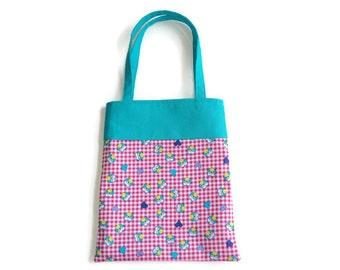 Small Fabric Owl Gift Bag/Goodie Bag - Owls