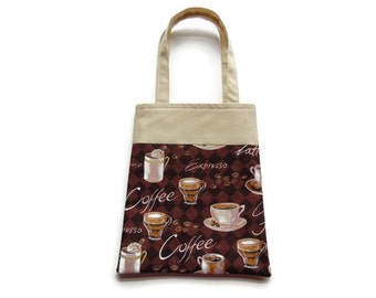 Fabric Gift/Goodie Bags - Coffee, Expresso, Mocha, Latte Bag