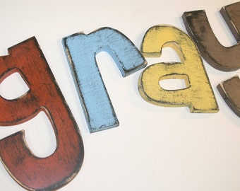 10 Inch Painted Wooden Wall Letters