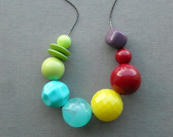 bright idea necklace - handmade, vintage lucite, remixed