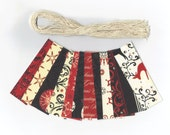 Skinny Tags / Christmas Gift Hang Tags / Magic of The Season Scallop Die Cut Hang Tags (22) Favor Tags / Ready To Ship