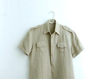 Linen Italian Cargo Shirt