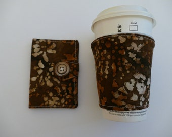 Tea wallet and cup cozy set