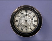 Silver Traveling Pocket Watch Round Glass Paperweight Home Decor