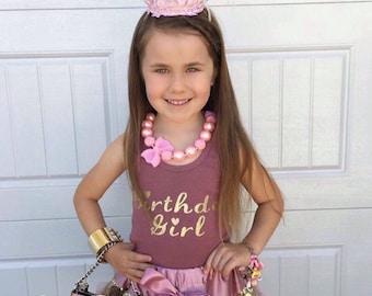 Girls Glitter Birthday Crown Birthday Party Photo Prop