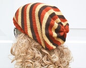 ON Sale Unisex Slouch hat, tam,  Oversized, Knitted, Dreads, Slouchy Beanie Hat, Vegan, Hippie Hat