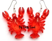 Lobster Earrings by Dolly Cool 3D Novelty