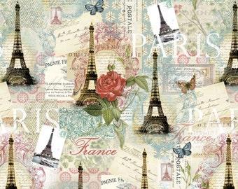Price Reduced!  Cream/Multi Paris Spring  (CA-3006-4C) - BTY - David Texiles