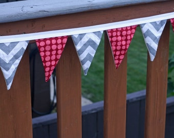 Colorful Fabric Bunting Banner