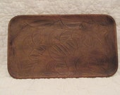 Vintage Wood Tray Serving Platter Rectangular Large Plate SALE