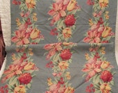 Vintage Curtain Heavy Cotton Floral Print