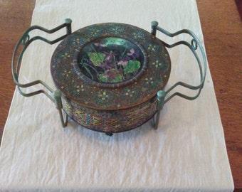 Vintage Expandable Trivet with Tin
