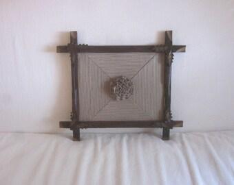 Ticking 101 in Antique Tramp Art Frame