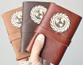 Leather Travel Journal, Pocket Diary, Rustic Travel Journal