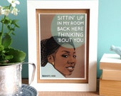 90s Brandy Greeting Card - Sittin' Up In My Room