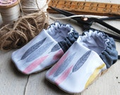 Feathers Reversible Baby Shoes