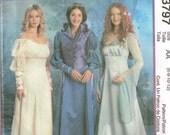 Renaissance Historical Cosplay Dress Mameluke Puffed Sleeve Misses McCalls 3797 Halloween Costume Size 6, 8, 10, 12 Bust 30.5 - 34