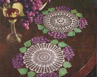 "Grape Doily Crochet PATTERN & Two Basic Centers from # 71 Star Book changed to a PDF instant download 7"" 9"" 10"" 11"""