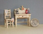 Tiny Artist  Desk & Chair  - 1:24 scale