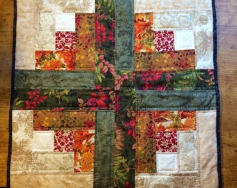 Autumn Log Cabin Quilted Table Mat II